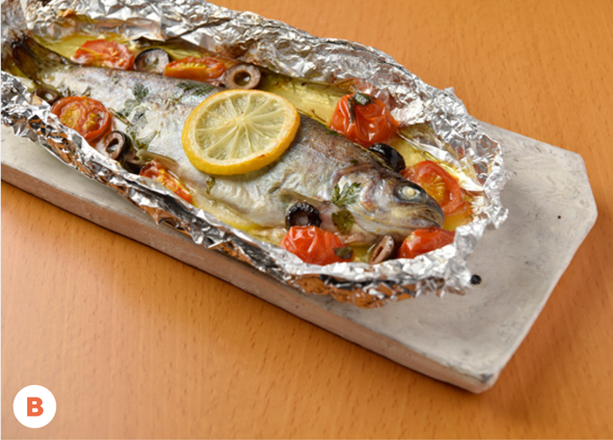 """Baby Salmon"" Baked in Foil"